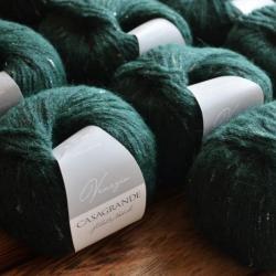 Casagrande Моточная пряжа Venezia материал бэби альпака вискоза цвет зеленый 385