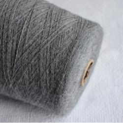 Inca Tops Пряжа на бобинах Suri Yak материал як сури цвет  серый меланж