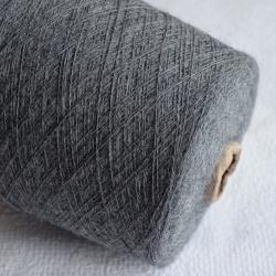 Inca Tops Пряжа на бобинах Suri Yak материал як сури цвет темно серый меланж
