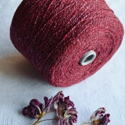 New Mill Пряжа на бобинах Scubidu материал хлопок лен цвет  ягодный