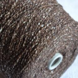 New Mill Пряжа на бобинах Scubidu материал хлопок лен цвет шоколад