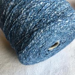 New Mill Пряжа на бобинах Scubidu материал хлопок лен цвет синее небо