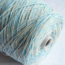 Fashion Mill Пряжа на бобинах Marabu материал хлопок цвет молочный с голубым