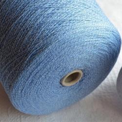 New Mill Пряжа на бобинах Gamma Mouline материал меринос+кашемир цвет голубой