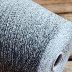 New Mill Пряжа на бобинах Flow Silver материал смесовка цвет серый