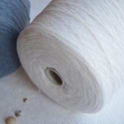 New Mill Пряжа на бобинах Ultra материал меринос+па цвет белый