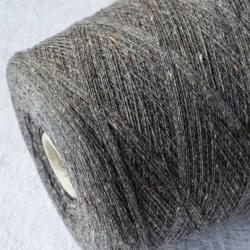 Filato Drago Пряжа на бобинах Cashmere Seta Tweed материал кашемир+ шелк цвет серый