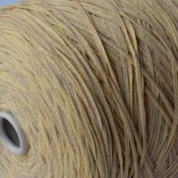Fashion Mill Пряжа на бобинах Baccano материал хлопок цвет банана и песочного