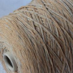 Fashion Mill Пряжа на бобинах Baccano материал хлопок цвет серебра и бежевой пудры