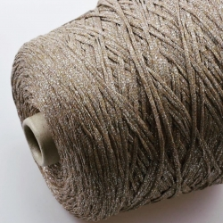 Fashion Mill Пряжа на бобинах Scuardo материал вискоза+хлопок цвет бежевое золото