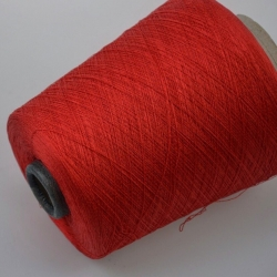 Zegna Baruffa Пряжа на бобинах Kyoto материал хлопок+шелк цвет  красный