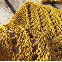 Miroglio Пряжа на бобинах Cordo материал смесовка цвет  золотая горчица