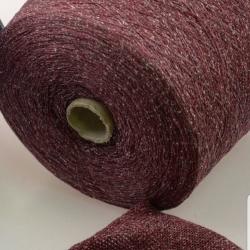 Италия Пряжа на бобинах Lane Chioccarello материал смесовка твид цвет бордо