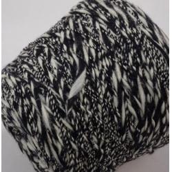 Lineapiu Пряжа на бобинах Joel материал меринос+полиакрил цвет  черный и белый