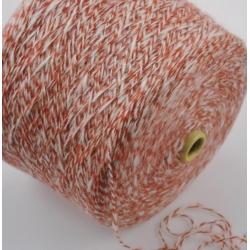 Gi.Ti.Bi. Пряжа на бобинах Kefir материал смесовка  цвет  терракот в розовинку