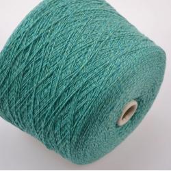 New Mill Пряжа на бобинах Magreb материал меринос цвет  нефрит с мятным