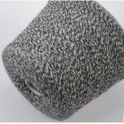 Texwell Пряжа на бобинах Basento Jasper материал меринос цвет серый с молочным