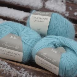 Casagrande Моточная пряжа Angora 80 материал ангора цвет мятная вода 961