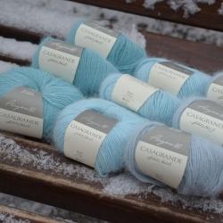 Casagrande Моточная пряжа Angora 80 материал ангора цвет голубой лед 697