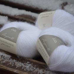 Casagrande Моточная пряжа Angora 80 материал ангора цвет белоснежный