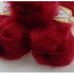 Alise Моточная пряжа Naturale материал хлопок+мохер цвет бордо 367