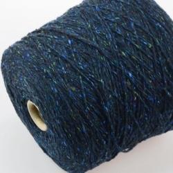 Hasegawa Пряжа на бобинах Enju материал смесовка твид цвет петроль