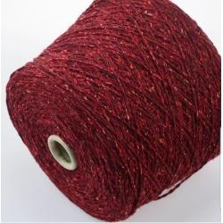 Hasegawa Пряжа на бобинах Enju материал смесовка твид цвет красный