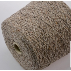 Hasegawa Пряжа на бобинах Enju материал смесовка твид цвет бежевый