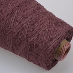 Италия Пряжа на бобинах Velour Ciniglua материал полиамид цвет розовая слива