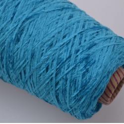 Италия Пряжа на бобинах Velour Ciniglua материал полиамид цвет бирюза