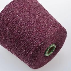 Filati Buratti Пряжа на бобинах Silk материал шелк +меринос цвет   ягодное ассорти