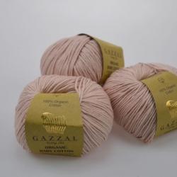 Gazzal Fancy Yarns Моточная пряжа Organic Baby Cotton материал  органическиий хлопок цвет пудра 416