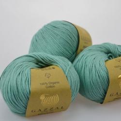 Gazzal Fancy Yarns Моточная пряжа Organic Baby Cotton материал  органическиий хлопок цвет мятно-полынный 422