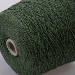 Fashion Mill Пряжа на бобинах Brina материал хлопок+меринос цвет зеленый
