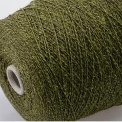 Fashion Mill Пряжа на бобинах Brina материал хлопок+меринос цвет олива
