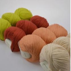 Gazzal  Моточная пряжа Baby Cotton материал  смесовка цвет терракот