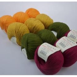 Gazzal  Моточная пряжа Baby Cotton материал  смесовка цвет манго