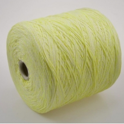 Fashion Mill Пряжа на бобинах Fluo материал хлопок+полиамид цвет лайм