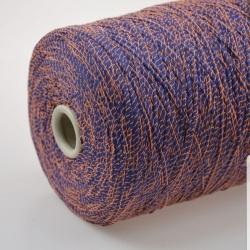 Fashion Mill Пряжа на бобинах Fluo материал хлопок+полиамид цвет темная лаванда в обмотке лососевого