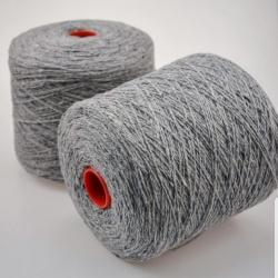 Biagioli Modesto Пряжа на бобинах Trapper материал кашемир+ягненок цвет серый твид