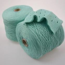 Lineapiu Пряжа на бобинах Channa материал хлопок цвет мятный