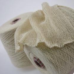 Filati Buratti Пряжа на бобинах Castor материал буретный шелк цвет молочный