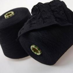 Botto Poala   Пряжа на бобинах Nanchino  материал меринос+шелк  цвет черный