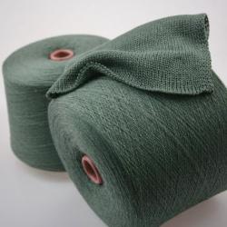 Италия Пряжа на бобинах Ziche Stradustor материал меринос с люрексом цвет полынь