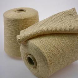 Италия Пряжа на бобинах Ziche Stradustor материал меринос с люрексом цвет ваниль