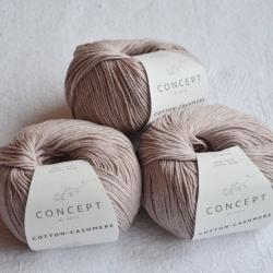 Katia Моточная пряжа Cotton-Cashmere материал  кашемир+хлопок цвет sepia brown 63