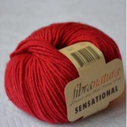 Fibranatura Моточная пряжа Sensational материал меринос цвет красный 40812