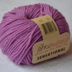 Fibranatura Моточная пряжа Sensational материал меринос цвет розовая сирень 40818