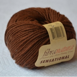 Fibranatura Моточная пряжа Sensational материал меринос цвет коричневый 40838