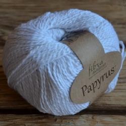 Fibranatura Моточная пряжа Papyrus материал смесовка белый  229-01